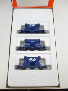 Roco H0 - 44037 - 3 x Side-unloaders of the NS