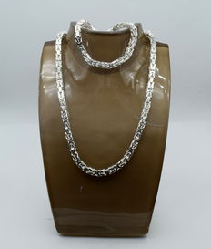 925 sterling silver set - 55 cm + 21 cm