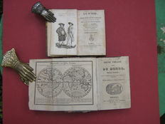 Lot with 2 French geographical works on de world and Switzerland - 1824/1835