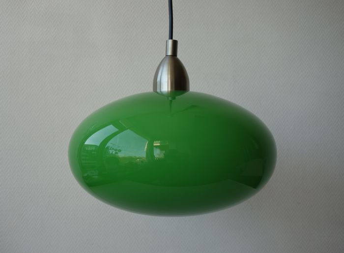 eglo leuchten green space age style glass pendant light. Black Bedroom Furniture Sets. Home Design Ideas