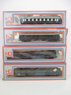 Lima H0 - 15441515/15441503 - Four Carriages of the CIWL/NS