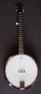 New Banjo, 5-string bluegrass banjo with Remo banjo head