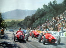 "Fine Art Print ""Grand Prix du Comminges"" -  1952 Alberto Ascari winner With Ferrari 500 #12"