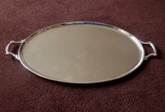 Very large heavy silver plated dish / tray