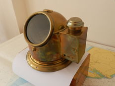 Antieke Brass Dome Binnacle  Dory life boat steering Compass  USA ( Mithit,Dostcl  USA )