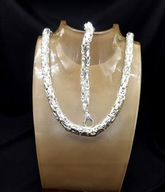 925 / 1000 silver -  total weight 516 g - chain size  70 x 1.05 cm