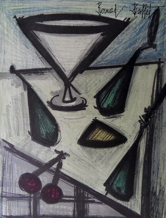 Bernard Buffet -  Nature morte au compotier