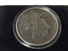 USA – 1 ounce medal 2016 'Nordic Creatures – Frost Giant' with box & certificate – 1 oz silver