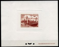 France, 1949 – Air mail – C.I.T.T. Congress (International Telephone and Telegraph Congress) – Luxury essay on cardboard.  Yvert catalogue #28.