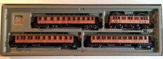 Märklin H0 - 2870 – Historical wooden passenger train of the Swedish Railroads (SJ)