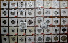 Netherlands Antilles – Cent up to and including 50 guilder 1952/1980 (62 pieces) – including 25x silver