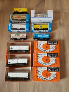 Märklin H0 - 4415/4918 - 10 various refrigerated carriages