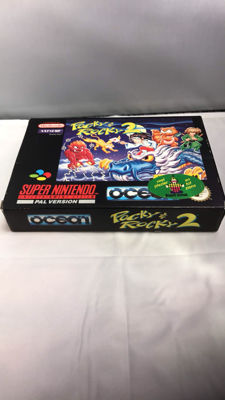 Snes game Pocky & Rocky 2 - Boxed