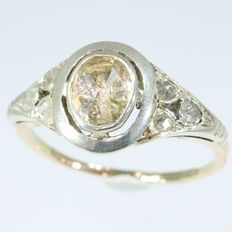 Engagement gold diamond ring - anno 1920