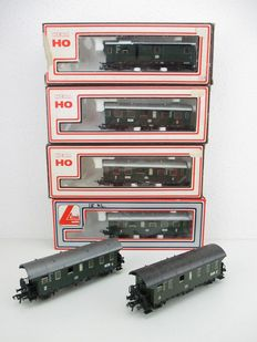 Fleischmann/Lima H0 - 6x carriages of the DB