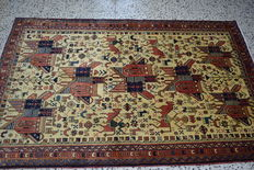 Hand-knotted Lavar Persian rug – 212 cm x 130 cm