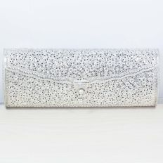 Exclusive Balinese Design Oxidised Silver Clutch Bag – Sterling silver 925/1000.