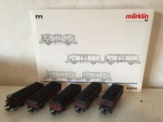 """Märklin H0 - 46034 - Carriage unit of 5 carriages """"Coal transport"""" of the DB"""