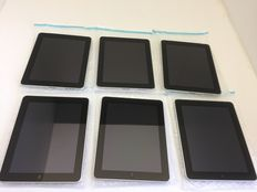 Lot of 6 Apple iPads model 1 - like 2x 64GB Cell , 1x 32GB Cell and 3x 32GB Wifi