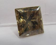 GIA 5.41  ct Loose Princess Brilliant cut Natural Fancy Orange Brown diamond