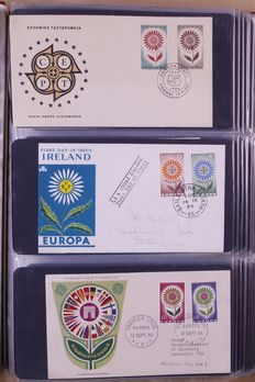 Europa stamps 1956/1979 – Batch of FDCs in 3 albums