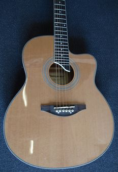 New ChS AW700, electro-acoustic, 7/8 Grand Auditorium, natural