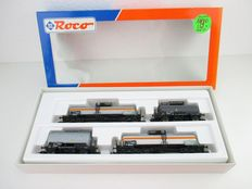 Roco H0 - 44041 - 4-piece set tank carriages of Bayer