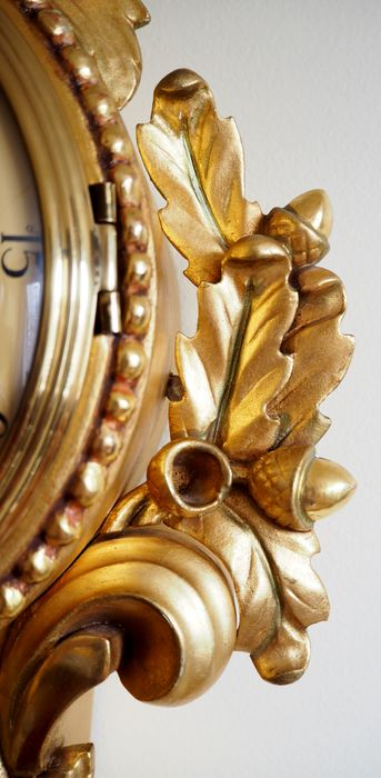 Swedish hand carved wooden gold-plated Rococo style ...