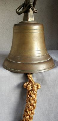 Large antique bronze ship bell -The Netherlands-first half of 20th century