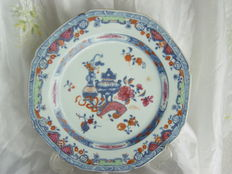 A famille rose porcelain dish, Chinese export, eighteenth century