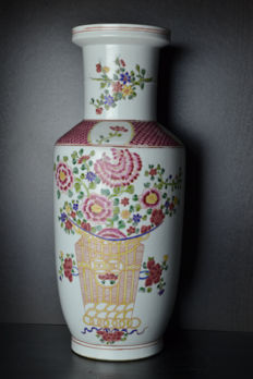 A large famille rose vase - China - late 20th century