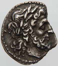 Greek Antiquity - Sicily, Akragas. AR Drachm or 1/2 Shekel of the II Punic War (213-211 BC)