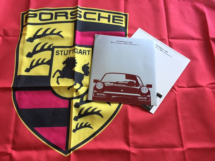 Porsche - Lot of 2 items - New flag (90 x 140 cm) + Advertising ... 3d6dec7e9f38