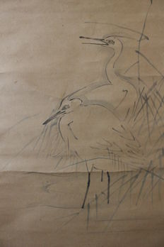 Painting on scroll signed by Doshun – Japan, 17th Century
