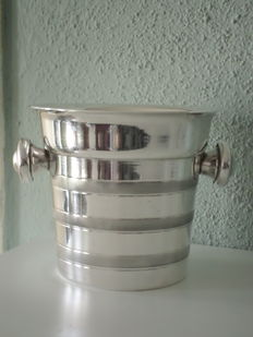 Silver plated art deco ice bucket - wine cooler ca 1920 Derby