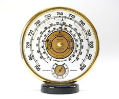 Jaeger - Vintage gilded metal and glass precision barometer