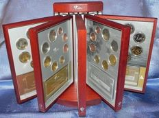 The Netherlands – Year collections (Proof-like) 1999/2003 complete + standard
