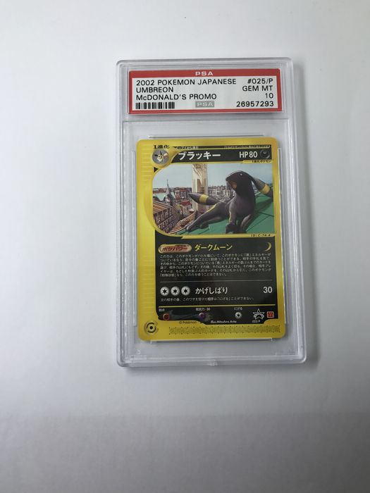 Pokemon Japanese Umbreon 2002 McDonald's PROMO / PSA10