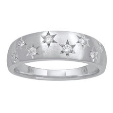 Platinum.  0.16ct total weight eternity ring with round diamonds. H/I colour and VVS2 clarity. Finger size Q.  No reserve