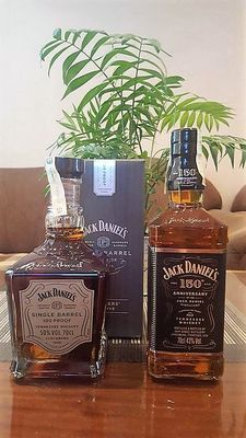 2 bottles - Jack Daniel's Single Barrel - 100 Proof & Jack Daniel's 150th Anniversary - 86 Proof