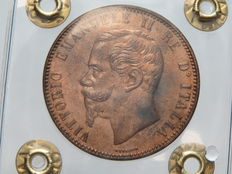 Kingdom of Italy - 10 Centesimi 1866, Birmingham, Vittorio Emanuele II - copper