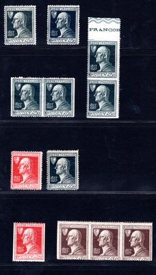 Italy 1927 - Lot of Varieties - Sass#: 211i, 221a, 211b, 210ka, 211k, 211d, 210d, 212d