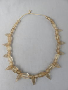 Necklace made of cut rock crystal beads – India – around 1900
