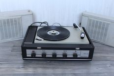 BSR Stereo Discofoon suitcase gramophone with built-in amplifier and 2 speakers