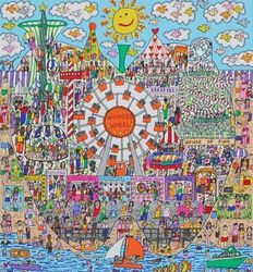 James Rizzi - The Big Apple Is Big On Coney Island - The Big Apple Is Big On The Empire State Building - The Big Apple Is Big On Broadway