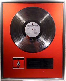 "The Rolling Stones - Flashpoint - 12"" German Stones Record platinum plated record by WWA Awards"