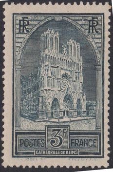 France 1929/31 – Reims cathedral Type II – Yvert n° 259a