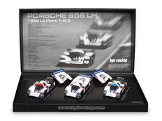 HPI Racing - Scale 1/43 - 3 Car Box - Porsche's 956 LH - Place 1-2-3 Le Mans 1982