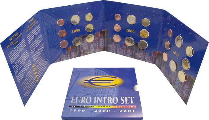 Belgium – Year sets 1999, 2000 and 2001 'Euro Intro Set'