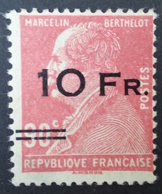 France 1928 - Air post, Berthelot 10F on 90c red, signed Calves et Brun, Ceres and numbered Calves certificate - Yvert n° 3.